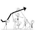 cartoon of business people teamwork concept vector image
