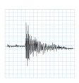 Earhquake wave vector image