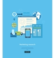 Flat design concepts for business vector image