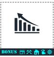 Graph icon flat vector image