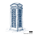 London pay phone vector image