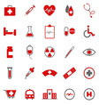 Medical color icons on white background vector image