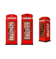 phone box in London vector image
