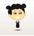 Schoolgirl with smile vector image