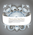 Fantastic style silver ornamented banner vector image vector image