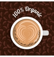 coffee cup with heart image graphic vector image