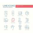 Home Appliances - simple line design icons set vector image
