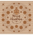 Trendy Christmas card Xmas Angel Kraft paper vector image