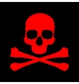 Pixel skull and bones vector image