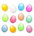 Easter Eggs as Stickers vector image