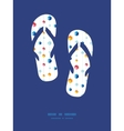 abstract hanging jewels striped flip flops vector image