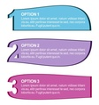 Three color options vector image