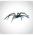 Spider black silhouette vector image