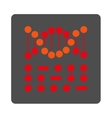 DNA Code Rounded Square Button vector image