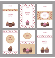 Set of bakery cards vector image