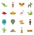 Mexico Flat Icon Set vector image