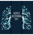 World Asthma Day banner vector image