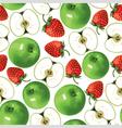 apple strawberry vector image