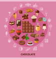chocolate round composition vector image