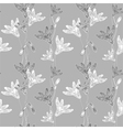 cornflower pattern grey vector image