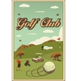 golf labels badges and emblems vector image
