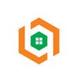 hexagon windows logo vector image