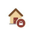 locked house glyph icon vector image