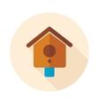 Nesting box bird-house flat icon vector image
