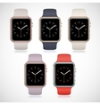New modern shiny sport smart watches set vector image