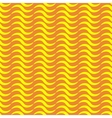 Wave line yellow seamless pattern vector image