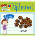 Flashcard letter S is for seeds vector image