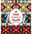 fancy abstract geometric pattern in tribal vector image