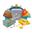 money and wealth vector image