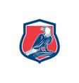 Bald Eagle Perching Shield Retro vector image vector image