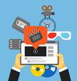 Digital media industry Flat design concept vector image vector image