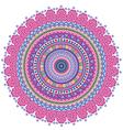 Circle tribal pattern vector image