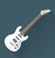 flat style white electric guitar vector image