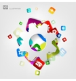 Settings icon Application buttonSocial media vector image