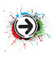 Abstract grunge arrow vector image vector image