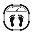 Weight scale black simple icon vector image