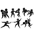 Sport icons for different martial arts vector image