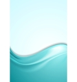 Abstract smooth wavy turquoise flyer design vector image