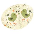 Birds love affair card vector image