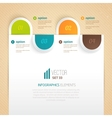 Business tab for options vector image