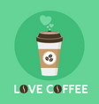 coffee cup love coffee signe vector image