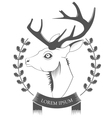 Deer Head on white background vector image