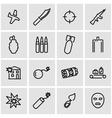 line terrorism icon set vector image