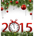 New year 2015 background with clock vector image
