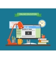 Online education concept in vector image