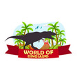 poster world of dinosaurs prehistoric world t vector image